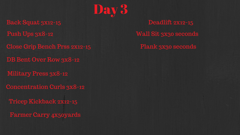 3 Day Workout (2)